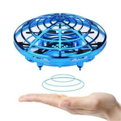 Smart UFO Drone Kids Toys LED Light USB Charging Fly Helicopter Hand Control $14.29