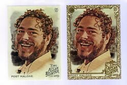 2019 Topps Allen amp; Ginter #176 ... Post Malone ... Gold Base 2 Card Lot $29.99