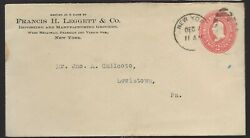 1900#x27;s NY Commercial Cover to Lewiston Pa