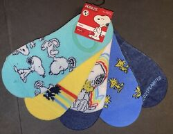 PEANUTS SNOOPY 5 PACK NO SHOW LINERS WOMENS SOCKS NEW $14.99