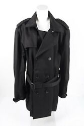 3.1 Phillip Lim for Target Mens Trench Coat Jacket Large Double Breasted Black $44.99