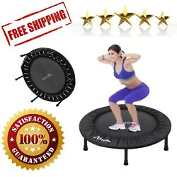 Fitness Trampoline 40 Inch Foldable Mini Adults Kids Exercise Rebounder Workout $80.89