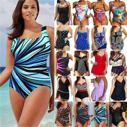 Plus Size Women Summer Tummy Control Push Up Bikini Swimsuit Swimming Costume $15.95