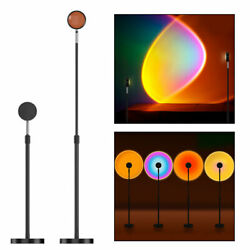 LED Sun Sunset Rainbow Rotating Projector Atmosphere Light Lamp Party Decoration $59.89