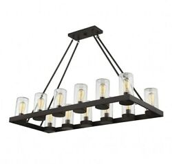 12 Light Outdoor Chandelier Transitional Style with Rustic and Modern Farmhouse $902.00