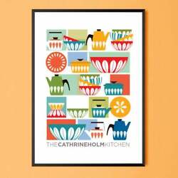 Cathrineholm Colorful Kitchen Art Scan Great Poste Wall Art Picture Pretty Gift $16.80