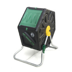 Miracle Gro DFSC70 18.5 Gal Tumbling Garden Waste Soil Composter w Hand Tool Kit $62.99