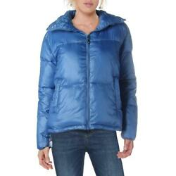 Boundless North Womens Blue Winter Quilted Puffer Coat Outerwear L BHFO 4337 $16.99