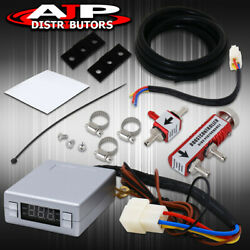 Red Manual Boost Controller Silver Turbo Timer Led Psi Digital Display Reader $28.99