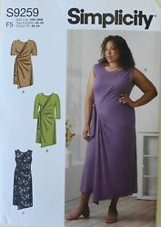 Simplicity 9259 Womens Plus Dresses Tunics Sewing Pattern Sz 18W 26W $3.99
