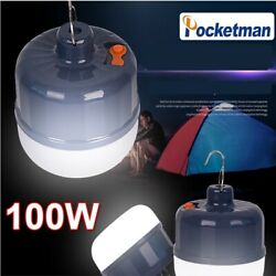 100W LED Lantern Rechargeable Tent Light Camping Lamp Portable Emergency Lamp $9.99