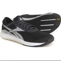 Reebok Nano 9 Mens Black Mesh Lace Up Athletic Cross Training Shoes Crossfit $64.99