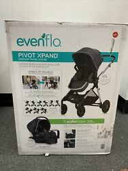 Evenflo Pivot Xpand Modular Travel System with Safemax Infant Car Seat Roan Grey $298.00