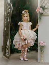 NEW Dollcake Yesteryear Pink Hi Low Dress Holiday Photo Party Girls 8 $249.00