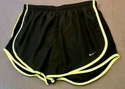 NIKE Dri Fit Black Women#x27;s Tempo Shorts Lined Athletic Running Exercise Size XL