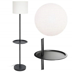 Standing Floor Lamp with Table Attached Guarantled 5 Ft Tall Black Reading Lamp $47.98