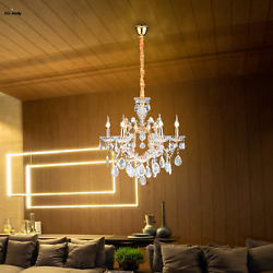 Modern Gorgeous Crystal 6 Light Ceiling Chandelier Pendant Fixtures Dining Room $149.99