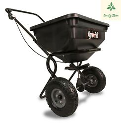 Fertilizer Spreader Broadcast Seed Lawn Pneumatic Tires 85 lb. Push Hopper NEW $84.00