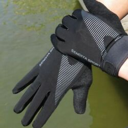 Full Finger Gloves Cycling Anti Slip Sweat Absorbing Breathable Sports Bicycle $12.99