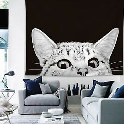 Cat Tapestry Wall Hanging Living Room Home Bedspread Throw Blanket Bedroom Decor $18.52