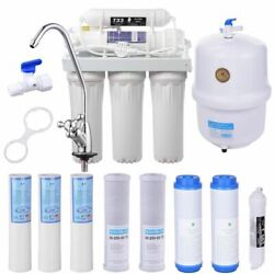 5 Stage Reverse Drinking Water Osmosis System RO Home Purifier 13 TOTAL FILTERS $32.99