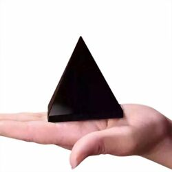 100% Natural Obsidian Pyramid Shape Quartz Healing Crystal Specimen Black LN $9.75