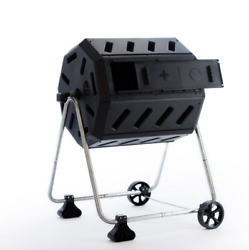 FCMP Outdoor IM4000 WK 37 Gal Dual Chamber Quick Curing Tumbling Composter Bin $110.00