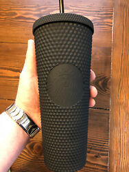 NEW Starbucks LIMITED EDITION 24 oz Matte Black Studded Tumbler Cup ONE DAY SALE $28.98