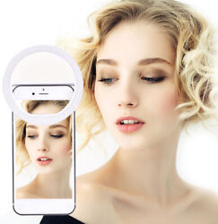 Portable Selfie LED Light Ring Fill Camera Photography For iPhone Android Phone $6.89