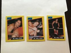 1991 IMPEL WCW Wrestling Cards MR WALL STREET lot of 3 cards $0.99