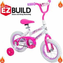 Huffy 12quot; Sea Star Girls#x27; Bike Bicycle Pink Training Wheels Outdoor Ride 3 5 yrs $57.99