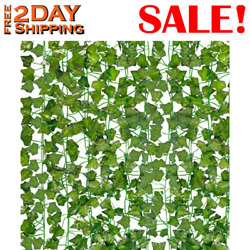 HATOKU 18 Pack Fake Vines for Wall Room Decor Artificial Ivy Leaves Garland Gree $14.75