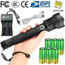 Torch Super Light 990000LM LED Flashlight Rechargeable USB amp; Battery amp; Charger $35.89