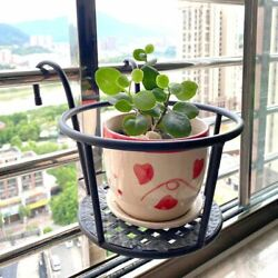 US Balcony Flower Pot Holder Hanging Over The Rail Metal Fence Planters Assemble $25.19