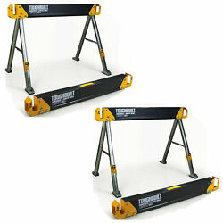 2 Pack TOUGHBUILT 42.4quot; Steel Sawhorse and Jobsite Table Pair 2200 lb. Capacity $79.99