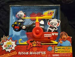 Jada Toys Ryan#x27;s World Helicopter with Combo Panda Figure 6quot; Feature Vehicle Red $12.00