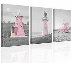 Decor for Bedroom for Girls Pink Ocean Theme Room Decoration Wall art Canvas ... $37.93