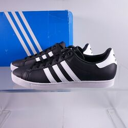 Size 12 Men#x27;s adidas Originals Coast Star Leather Sneakers EE8901 Black White $47.95