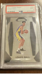 LONZO BALL 2017 ROOKIE PANINI PRIZM #289 PSA 9 MINT LAKERS