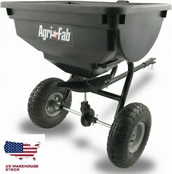 85 Lb Behind Broadcast Spreader Tow Hopper Fertilizer Seed Atv Lawn Tractor Pull $85.97