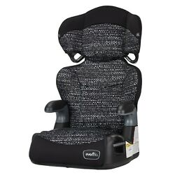 Evenflo Big Kid LX High Back Booster Car Seat Static Black Baby 80 lbs $43.99