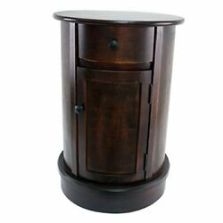 Side Table Vintage Cherry Finish $190.64