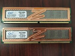 OCZ 2 x 2GB DDR2 PC2 6400 800Mhz MEM KIT OCZ2G800C4GK Desktop Memory Tested $20.00