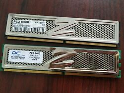 OCZ 4GB 2 x 2GB DDR2 PC2 6400 800Mhz Desktop Memory Tested $20.00