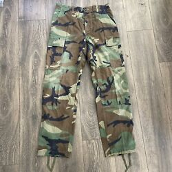 US Army Military Small Regular Woodland Camo Combat Cargo Button Fly Pants $21.99