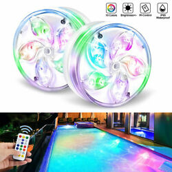 Submersible Swimming LED Pool Lights Magnetic Underwater with Remote Waterproof $26.59