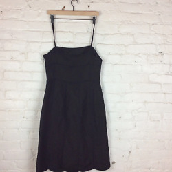 Anne Taylor Thin Strapped Black Dress 10