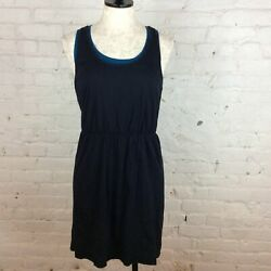 Loft Blue amp; Black Dress M