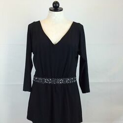 White House Black Market Black Dress L