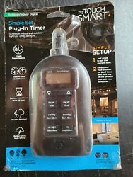 CHRISTMAS LIGHTS TIMER JASCO MY TOUCH SMART 26898 PLUG IN TIMER SIMPLE SET